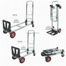 China 2 In 1 Aluminum Hand Truck 200kgs Capacity Hand Truck Dolly ...
