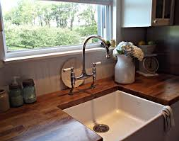 Kitchen Farmhouse Style Faucets Farm Sink Faucet Ideas Wooden Single Washbasin Design Fantastic Bright Rustic Island With And