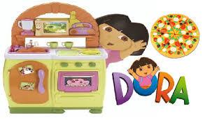 dora the explorer kitchen playset for kids teatime pizza party