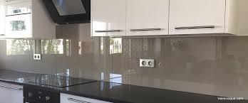 credence cuisine verre trempé verre laqué sur mesure couleurs au choix professionnel au juste
