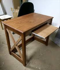 Wood puter Desk With Keyboard Tray pallet wood puter desk