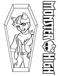 Clawd Wolf Monster High Coloring Page