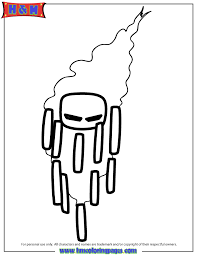 Yellow Creature Blaze From Nether Coloring Page