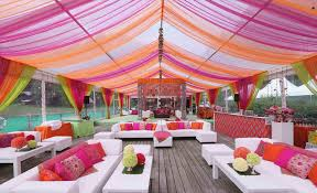 Outdoor Tent Reception Modern Decor Wedding Decorations Ceiling Ideas