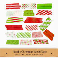 Halloween Washi Tape Australia by Nordic Christmas Washi Tape Transparent Clip Art Set