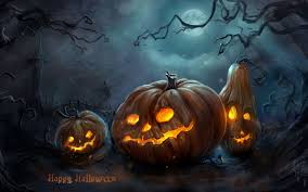 Scary Pumpkin Printable by Scary Pumpkins In The Cemetery Happy Halloween Night