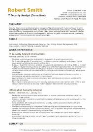 It Security Analyst Great Resume Examples