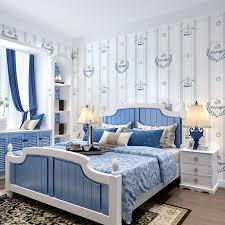paysota kinderzimmer tapeten junge englisch stil vlies schlafzimmer mittelmeer vertikale streifen wandpapierrolle