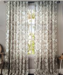 Gray Chevron Curtains 96 by Envogue Tan Elephant Medallions Window Curtain Panels Set Of 2