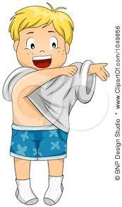 Free Rf Clip Art Illustration A Happy Cartoon Boy Getting
