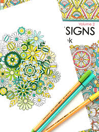 Flower Designs Coloring Book Volume 2 By Jenean Morrison