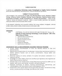 Lab Assistant Resume Professional Technician Template Sample Objective