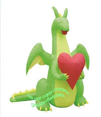 Gemmy Halloween Inflatable Dragon by Amazon Com Valentines Day Inflatable Dragon In Love Holding Heart