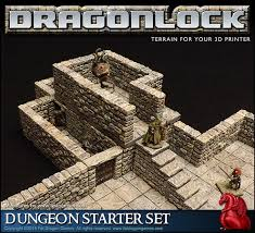 3d Printed Dungeon Tiles by Dragonlock 28mm Scale Dungeon Gaming Terrain By Tom Tullis