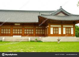 100 South Korea Houses Traditional N House In Summer Stock Photo