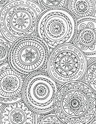 Print Coloring Books Circled Mandalas Page Printable Pages Christmas Tree Full Size