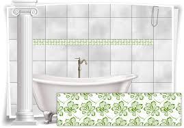 fliesenaufkleber fliesen bordüre aufkleber vintage nostalgie retro küche bad wc