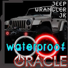 2007 2018 Jeep Wrangler JK ORACLE LED Fog Light Halo Kit