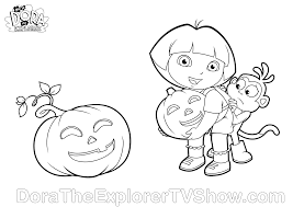 Scary Halloween Coloring Pages To Print by Dora Halloween Coloring Pages Getcoloringpages Com