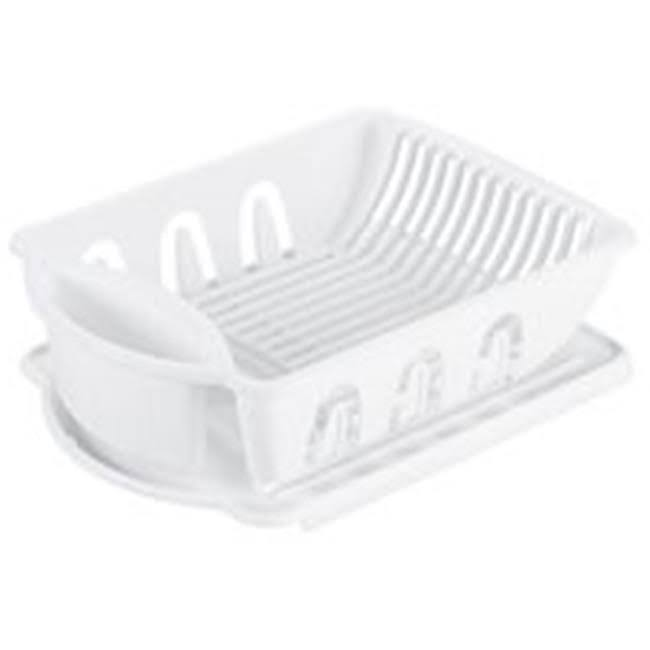 Sterlite Sink Dish Rack Drainer - White, Medium