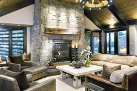Rustic Style Family Room Decorating Ideas Living
