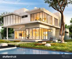 100 Dream House Architecture Swimming Pool 3d Rendering 1239754912