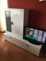 ikea wohnwand weiß kommode highboard schrank wohnzimmer