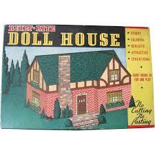 Built Rite Cardboard Doll House Kit in Original Box ca 1930s
