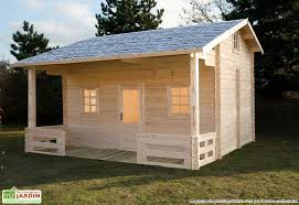 bungalow chalet bois megève 600x590x378 44 mm abri en bois