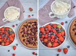 dessert aux fruits rapide gâteau rapide et facile pistache et fruits rouges amuses bouche