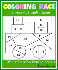 Printable Activities For 2 Year Olds Lovely Math Game Kids Coloring Race Bines And