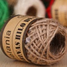 10M Roll Natural Linen Twine Rope Thread For DIY Decor Toy Crafts Vintage Rustic Wedding Decoration Party Supplies
