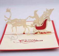 Folding Handmade Paper Craft 3D Pop Up Christmas Card
