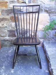 Nichols And Stone Windsor Rocking Chair by Tilden Spindle Back Dining Chair Artisinal Black Side Chair