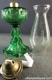 Oil Lamp Chimney Glass Replacement Canada by Green Bullseye Fine Detail Oil Lamp Antiques