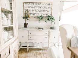 An Antique Buffet In The Dining Room