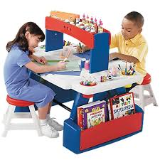 Step2 Deluxe Art Desk by Step 2 Creative Projects Table Kids Art Desk Art Table 儿童房