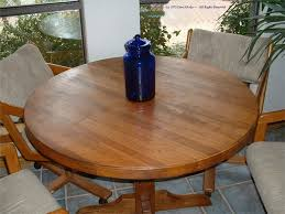 Round Pedestal Butcher Block Dining Table Design Picture