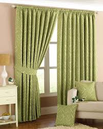 Lined Curtains For Bedroom by Green Narrow Leaf Lined Curtains Free Uk Delivery Terrys Fabrics