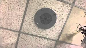 Bogen 2x2 Ceiling Speakers by Speaker Bell Ring 1 Youtube