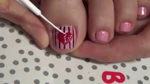 Striped Heart Beautiful Hand Painted Nail Art Cute Simple - Simple ... Simple Nail Art Designs To Do At Home Cute Ideas Best Design Nails 2018 Latest Easy For Beginners 5 Youtube Short Step By For Tutorials Inspiring Striped Heart Beautiful Hand Painted Nail Art Cute Simple 8 Easy Flower Nail Art For Beginners French Arts Brides Designs At Home Beginners