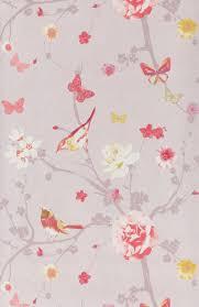 tapisserie chambre fille papier peint branche oiseau jaune papier peint floral de
