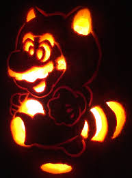 Mario Pumpkin Stencil by My Tanooki Mario Jack O Lantern The Triple Option