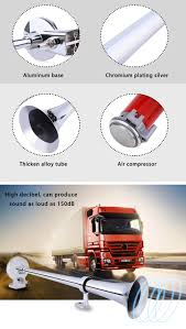 Dropship Truck Lorry Boat Loud Single Trumpet Chrome Plated Alloy ... Twin 25 Brig Roof Mounted Truck Air Horn Set With150 Psi 149db 4four Trumpet Metal Chrome Train Car Boat 1pcs 24v Electric Solenoid Barb Fitting Valve Stebel Air Horn Nautilus Compact Car Truck 12v Volt Deep Gampro 150db 18 Inches Zinc Single 12v 178db Super Loud Dual Tone Compressor For Motorcycle Bike 12 Volt 135db Pcwizecom Truhacks Compact Quad Kit Kleinn Automotive Horns Sirens Trucks Northern Tool Equipment Longest Semi Driver Blows Air Horns 4 Video Youtube