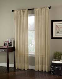 120 Inch Long Sheer Curtain Panels by Soho Voile Lightweight Sheer Long Length Curtain Panel