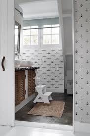 badezimmer tapete federzeichnung fisch weiß und schwarz 138967