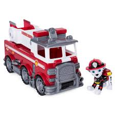 100 Toy Moving Truck Spin Master PAW Patrol Marshalls Ultimate Rescue Fire