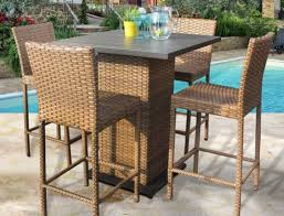 5 Piece Bar Height Patio Dining Set by 5 Piece Bar Height Patio Set