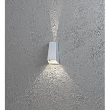 konstsmide new imola led outdoor wall light in aluminium