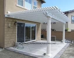 Inexpensive Patio Cover Ideas by Patio U0026 Pergola Wonderful Alumawood Patio Cover In White Matched
